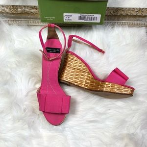 Kate Spade Rare Spring 2005 Wicker Cabo Wedges
